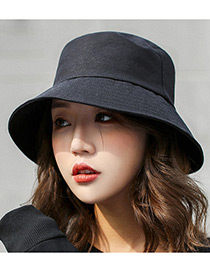 Simple Black Pure Color Decorated Hats