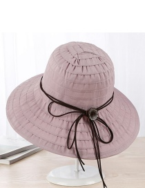 Trendy Pink Pure Color Design Foldable Sunshade Hat