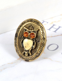 Fashion Gold Color Owl Shape Decorated Ring