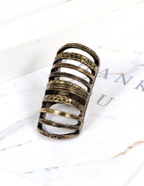 Fashion Gold Color Pure Color Decorated Ring