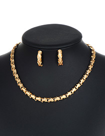 Fashion Gold Color Pure Color Design Snake Shape Jewelry Sets