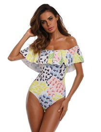 Sexy Multi-color Off Shoulder Design One-piece Bikini