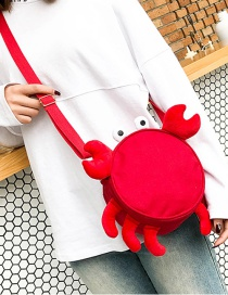 Fashion Red Crab Shape Decorated Backpack(s)