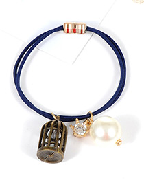 Fashion Navy Cage Pendant Decorated Hair Band