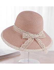 Fashion Pink Bowknot Shape Decorated Hat