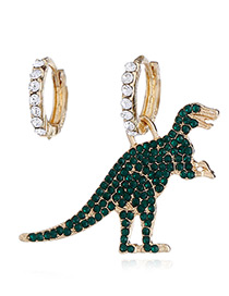 Fashion Gold Color Dinosaur Shape Design Earrings
