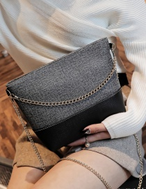 Fashion Gray Color-matching Decorated Bag