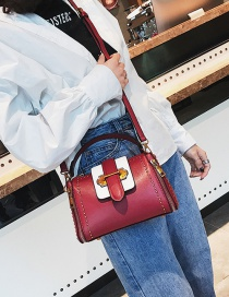Fashion Red Rivet Decorated Simple Bag