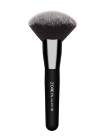Fashion Black Round Shape Decorated Makeup Brush