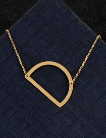 Fashion Gold Color D Letter Shape Decorated Necklace
