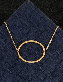 Fashion Gold Color O Letter Shape Decorated Necklace