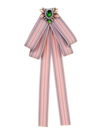 Fashion Pink Butterfly Shape Decorated Bowknot Brooch