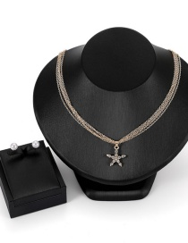 Fashion Gold Color Star Shape Decorated Jewelry Set (3 Pcs )