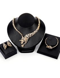 Fashion Gold Color Tiger Shape Decorated Jewelry Set (4 Pcs )