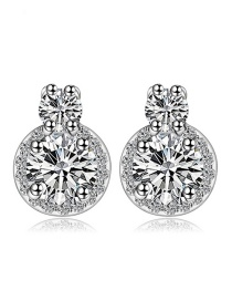 Fashion Silver Color Pure Color Decorated Earrings