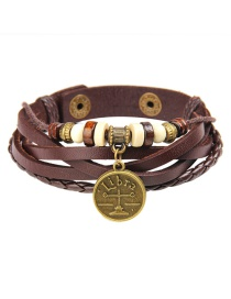 Fashion Brown Libra Pattern Decorated Bracelet