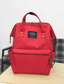Fashion Red Zipper Decorated Backpack
