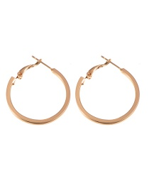 Fashion Gold Color Pure Color Design Round Shape Earrings (small)