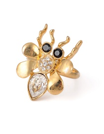 Fashion Gold Color Bee Shape Design Ring