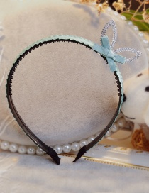 Lovely Green Rabbit Ears&bowknot Decorated Hair Hoop