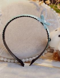 Lovely Green Rabbit Ears&bowknot Decorated Hair Hoop
