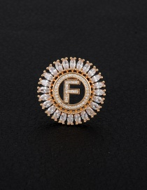 Fashion Gold Color Letter F Decorated Hollow Out Pendant(without Chain)