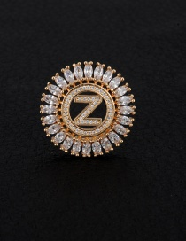 Fashion Gold Color Letter Z Decorated Hollow Out Pendant(without Chain)