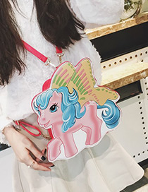 Fashion Pink Horse Shape Decorated Bag