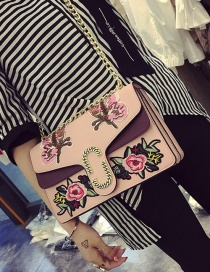 Fashion Pink Butterfly Shape Decorated Shoulder Bag