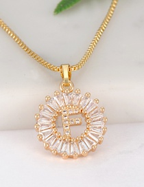 Fashion Gold Color Letter F Shape Decorated Necklace