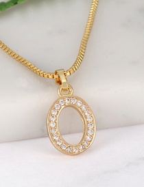 Fashion Gold Color Letter O Shape Decorated Necklace