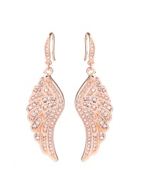 Fashion Gold Color Wing Shape Decorated Earrings