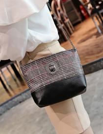 Fashion Red Square Shape Decorated Shoulder Bag