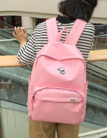 Fashion Pink Bear Pattern Decorated Backpack
