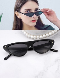 Fashion Black Cat Eyes Shape Design Simple Glasses