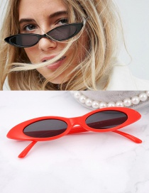 Fashion Red Oval Shape Design Small Frame Glasses