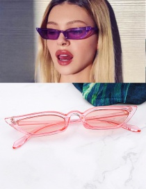 Fashion Pink Pure Color Design Simple Glasses
