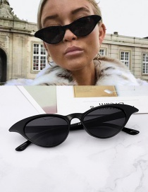 Fashion Black Oval Shape Design Pure Color Glasses