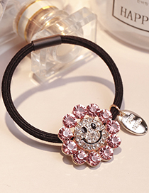 Lovely Light Purple Smiling Face Decorated Hair Band