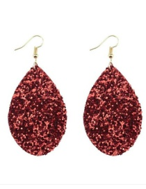Fashion Red Water Drop Shape Design Earrings
