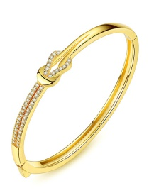 Fashion Gold Color Hollow Out Design Pure Color Bracelet