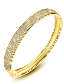 Fashion Gold Color Multi-layer Diamond Design Pure Color Bracelet