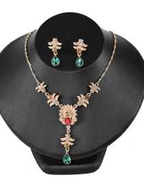 Fashion Multi-color Full Diamond Decorated Color Matching Jewelry Sets