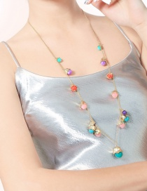 Fashion Multi-color Bells Shape Decorated Long Necklace