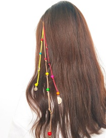 Fashion Multi-color Beads Decorated Color Matching Hair Accessories