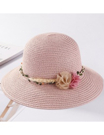 Fashion Pink Flower Shape Decorated Hat
