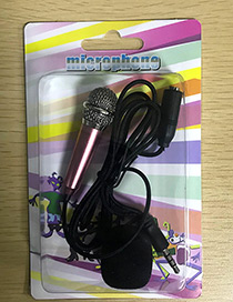 Fashion Silver Color+pink Color-matching Decorated Microphone(apply To Andrews&iphone)