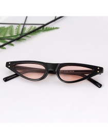 Fashion Black Triangle Shape Design Glasses