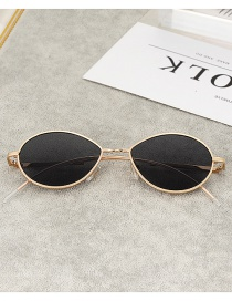 Fashion Black Round Shape Design Glasses