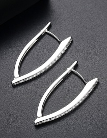 Fashion Silver Color V Shape Design Earrings
